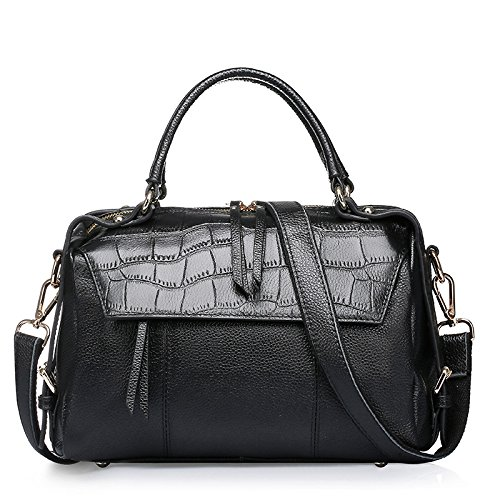 GUANGMING77 _ Borsetta Crossbody Borsa Laptop E,Nero black