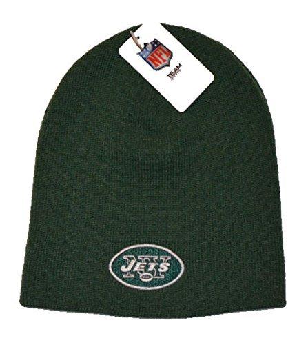 New York Jets Green Skull Cap - NFL NY Cuffless Knit Toque Beanie