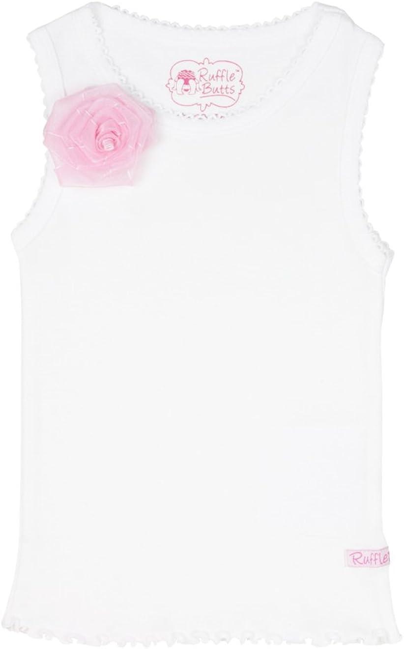 RuffleButts Girls Tank Top w//Flower