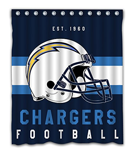 Sonaby Custom San Diego Chargers Waterproof Fabric Shower Curtain For Bathroom Decoration (60x72 Inches)