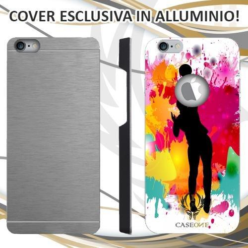 CUSTODIA COVER CASE PALLAVOLO PER IPHONE 6 6S IN ALLUMINIO