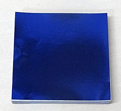 "6"" X 6"" Dark Blue Confectionery Foil Wrappers Candy Wrappers Candy Making Supplies"