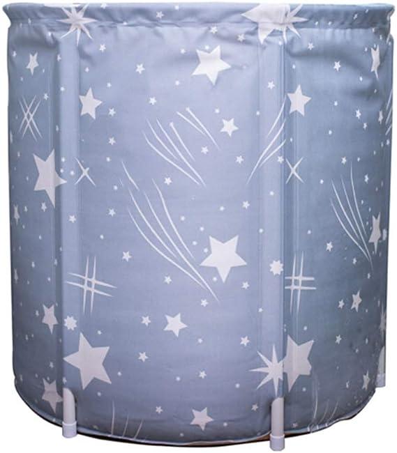 NOLLY Bañera portátil Patrón Adulto de la Unidad Bañera Plegable de plástico del baño Barril del baño de Cubo Gris Bathbarrel Adultos Se Puede Usar en la Ducha (Color : Gray, Size :