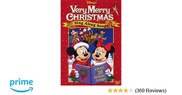 Disney Sing Along Songs Very Merry Christmas Songs 2002.Amazon Com Disney S Sing Along Songs Very Merry Christmas