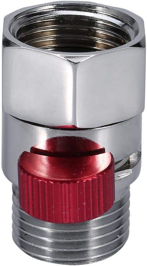 Delaman 1//2arr/êt vanne d/économie deau pour pomme de douche pulv/érisateur de bidet /à main nouveau 1 PC Vanne de contr/ôle de d/ébit rouge