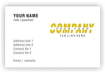 Personalisierte Visitenkarten Mit Logo Individuelle
