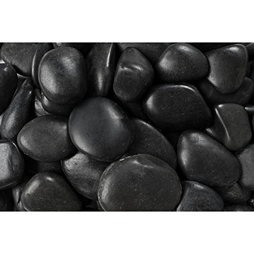 Rainforest RFBRPA3-20 Decorative Pebbles, 20 lb, Grade A Black