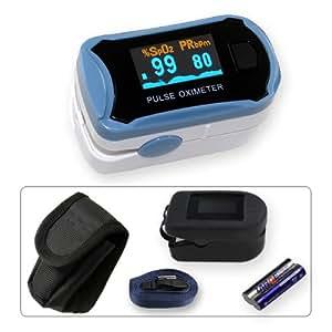 Pulox MD 300 C29 - Oxímetro de pulso para dedo (incluye funda protectora)