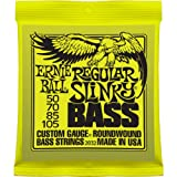 Ernie Ball 2832 Nickel Wound Regular Slinky Bass String Set (50 – 105), Outdoor Stuffs