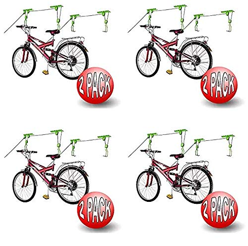 2011 Bike Lane Bicycle Storage Lift Bike Hoist 100LB Capacity Heavy Duty 2 Pack (Fоur Расk)