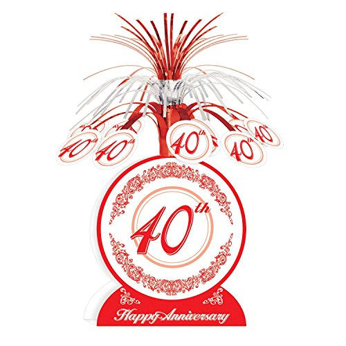 40th Anniversary Centerpiece Party Accessory (1 count) (1/Pkg) (Wedding Anniversary Centerpieces)