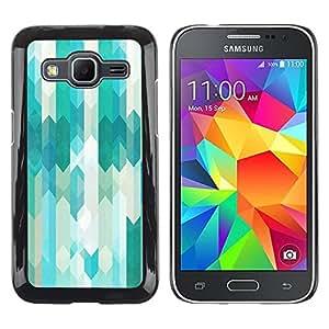 Paccase / SLIM PC / Aliminium Casa Carcasa Funda Case Cover para - Stripes Vertical Subtle Tones Mellow - Samsung Galaxy Core Prime SM-G360