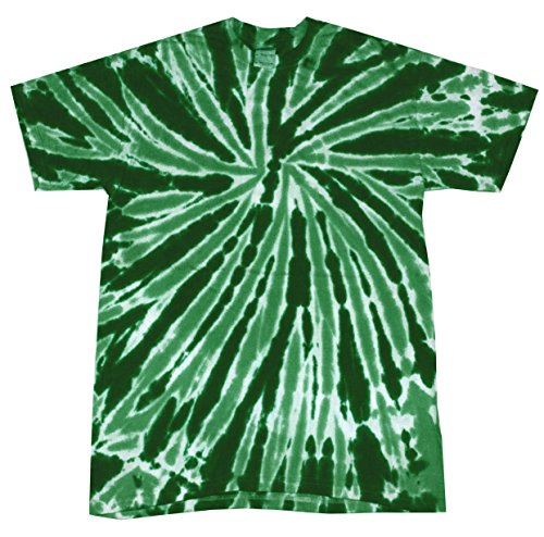Colortone Tie Dye T-Shirt SM Twist Dark Green