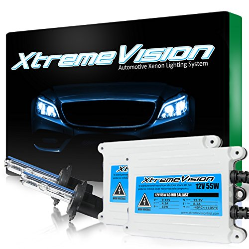 XtremeVision 55W AC Xenon HID Lights with Premium Slim AC Ballast - H7 5000K - 5K Bright White - 2 Year Warranty