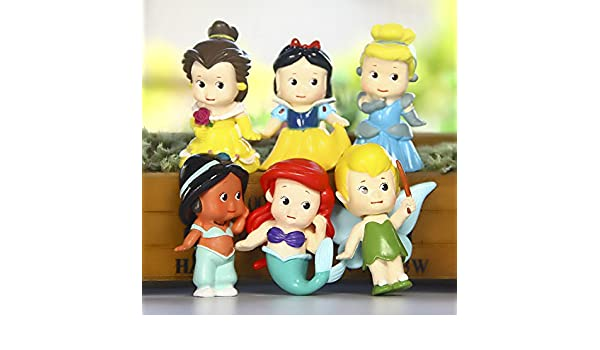 Amazon.com: 6pcs/set Princess Mermaid Figures Decoration Action Figures Collection Model Toys 6cm: Toys & Games