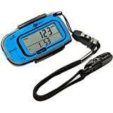 Ozeri PD4X3B-2 4x3 Razor Digital Pocket 3D Pedometer with Bosch Tri-Axis Technology from Germany, Blue