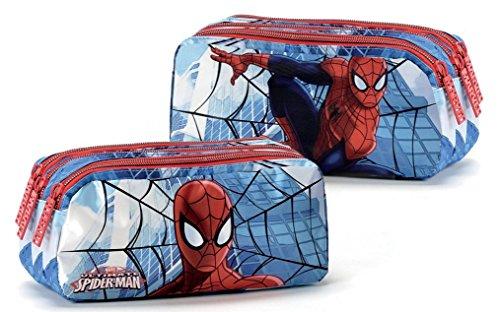 Coriex SIGNS SPIDER-MAN Tasche 3 Reißverschluss Kinder-Sporttasche M95237 MC, 21 cm, Multicolor