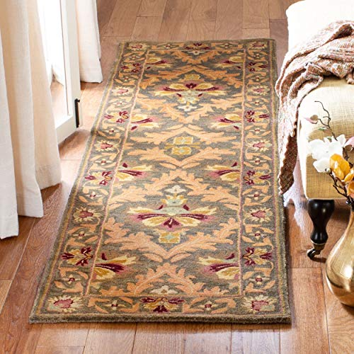 Traditional Rug - Antiquity Wool Pile -Sage/Gold Sage/Gold/Traditional/8'LX2'3