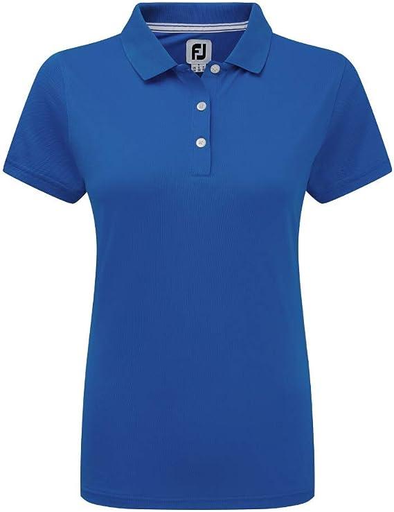 Footjoy Stretch Pique Solid Shirts Polo para Mujer: Amazon.es ...