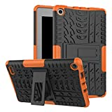 7 inch quad tablet case - Amazon Fire 7 Case, Fire 7 2017 Case, VPR Slim Premium Dual Layer Protection Case with Kickstand Hard PC + TPU Silicone Hybrid Anti-Scratch Cover For Amazon Fire 7 Inch Tablet 7th Generation (Orange)