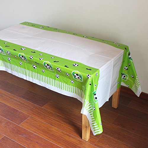 Printed Table Clothes-70x42 inch Salome Idea 3-Pack Rectangle Table Cover graduation Birthday Party//Banquet//Occasion Disposable PE Tablecovers