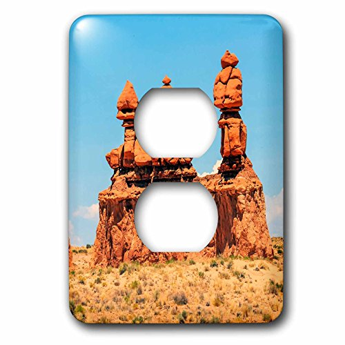 3dRose Danita Delimont - Rock Formations - Three Sisters Hoodoos, Goblin Valley SP, San Rafael Desert, Utah - Light Switch Covers - 2 plug outlet cover - Rafael San Outlet