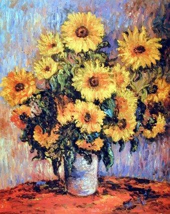 claude monet sunflowers poster