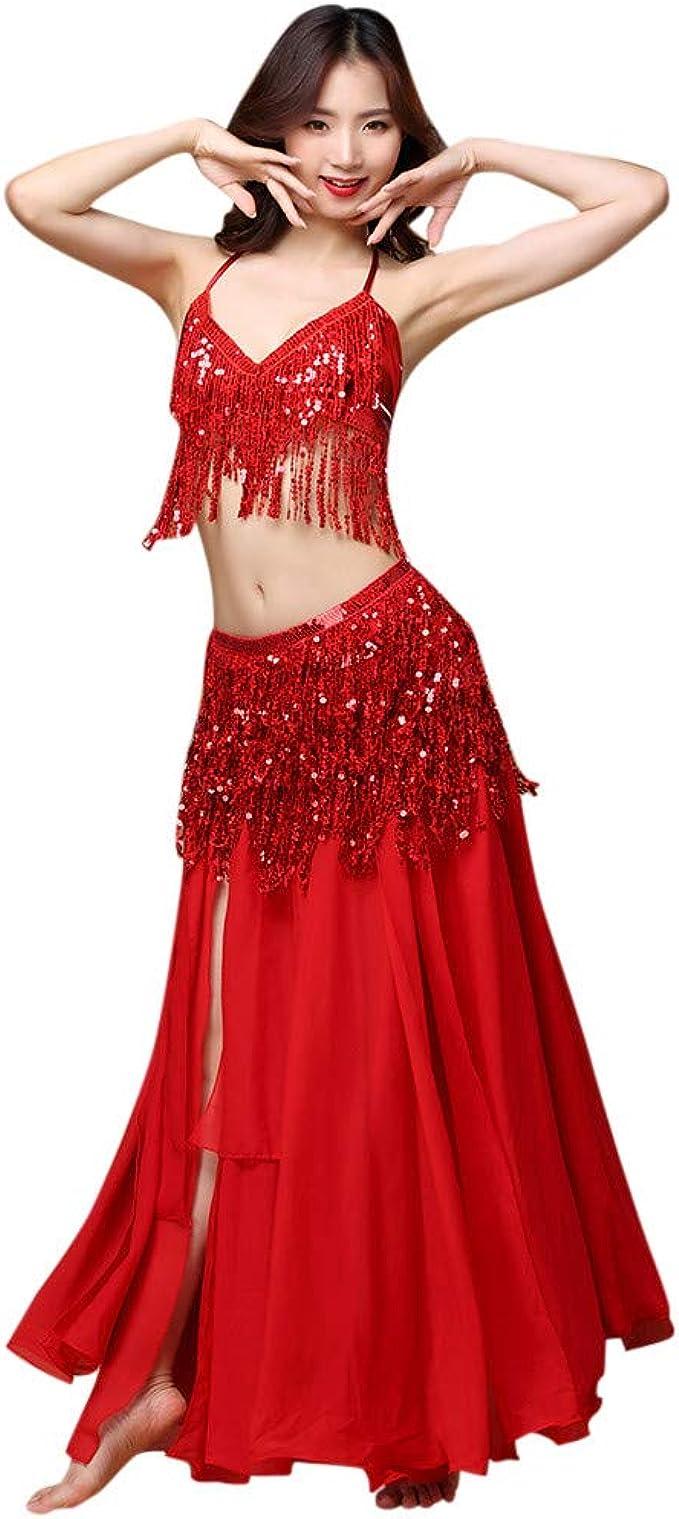 10 Farben Orientalisch Tanzen Oberteil Belly Dance Bauchtanz Kostüm BH Tops de