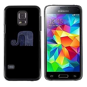 Exotic-Star ( Funny Elephant Minimalist ) Fundas Cover Cubre Hard Case Cover para Samsung Galaxy S5 Mini / Samsung Galaxy S5 Mini Duos / SM-G800 !!!NOT S5 REGULAR!