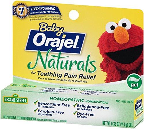 Orajel Baby Naturals Teething Gel 0 33 Oz Buy Online In