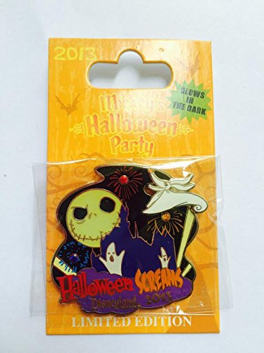 Authentic Disney DLR Mickey's Halloween Party 2013 Pin Screams Jack Zero Slider LE Glows in the dark by Disney