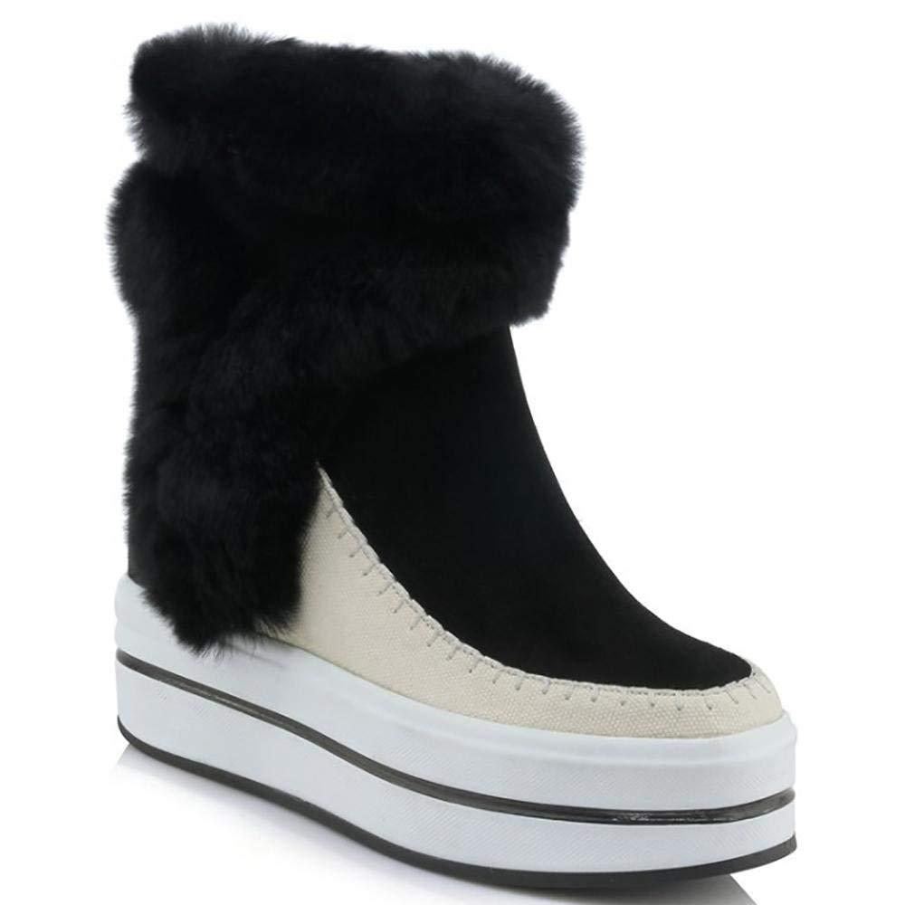 Fuxitoggo Damen Schneestiefel Winterstiefel Winter Schuhe mit Sportliche Stiefel (Farbe   Schwarz, Größe   38)  | Offizielle