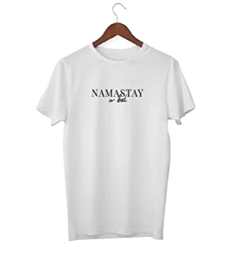 Namaste Stay In Bed Funny Yoga Quote_KK020325 Shirt T-Shirt ...
