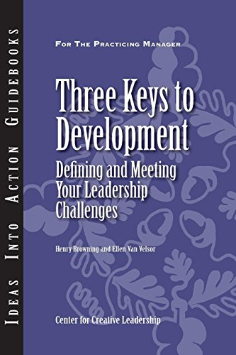 Three Keys to Development: Defining and Meeting Your Leadership Challenges