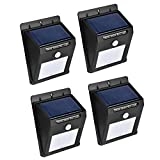Solar Lights, Outdoor 16LED Solar Motion Light Sensor Detector, Solar Patio Lights, Weatherproof Wireless Motion Sensor Light with Auto On/Off for Patio Deck,Garden,Yard,Driveway,Street (4pack)