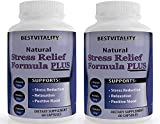 Bestvitality Premim Natural Homeopathic Stress, Panic and Anti Anxiety Relief Supplement (L-theanine - 150mg) Supports Mental Clarity 60 Vegetarian Capsules - Made in USA (2)