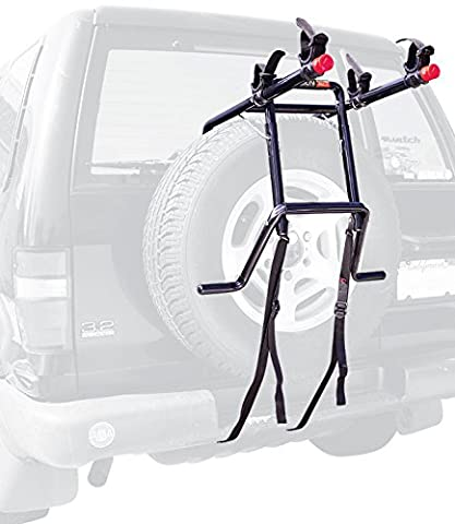 Allen Sports Deluxe 2-Bike Spare Tire Mounted Rack (Rack For 2 Bikes)