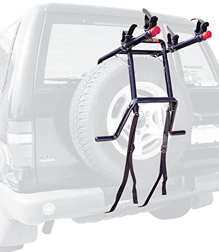 Spare Rack Jeep Tire (Allen Sports Deluxe 2-Bike Spare Tire Mounted Rack)