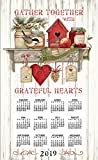 2019 Calendar Towel & Dowel - Kitchen Sentiments - Country Shelf, GATHER TOGETHER GREATEFUL HEART - Kay Dee - Kay Dee