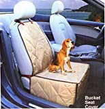 Ideas In Life Dog Car Seat Cover - 2 in 1 Bucket Seat Cover and Car Pet Seat - With Seat Anchor Strap and Dog Leash Connector
