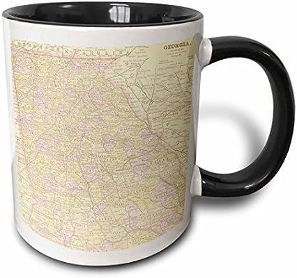 3drose Mug 178864 4 Vintage Map Of Georgia Usa Two Tone Black Mug 11oz Buy Online At Best Price In Uae Amazon Ae