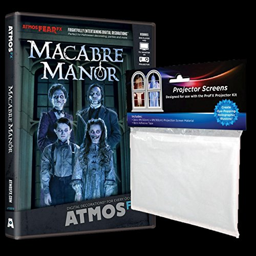 Halloween Prop AtmosFEARfx MACABRE MANOR Digial Halloween Decoration - Haunted House Video Projection Effects DVD (Manor Halloween)