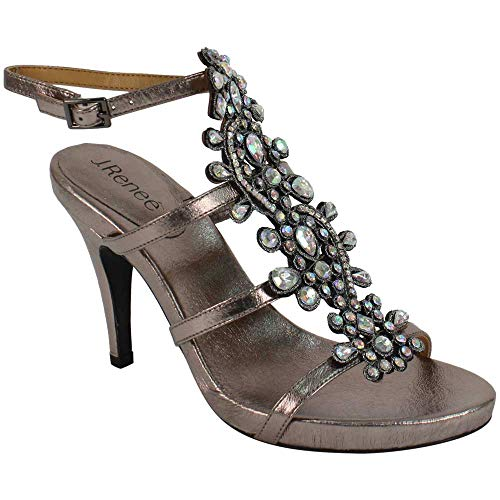 (J.Renee Women's Evadine (Taupe Metallic, 12 M US) )