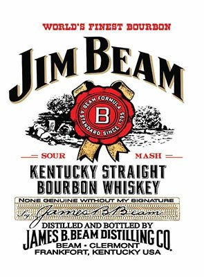 "ART/ARTWORK - Licensed Collectibles, Vintage, Antique And Original Designs - LOVELY SPIRITS THEMED HOME / OFFICE DECOR [3542810619] - ""Jm Beam - Kentucky Straight Bourbon Whiskey"" [lovely image and stylish design] - Artwork/Sign Is Paint On Metal [MSOMS]"