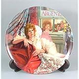 c1986 Bradford Exchange Annie collector plate Annie and Miss Hannigan