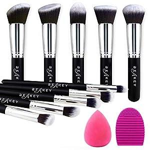 Best Epic Trends 51IfJNXNvuL._SS300_ BEAKEY Makeup Brush Set, Premium Synthetic Kabuki Foundation Face Powder Blush Eyeshadow Brushes Makeup Brush Kit with…
