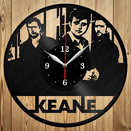 Vinyl Record Clock Keane Art Decor Home Wall Clock Black Original Gift Unique Design