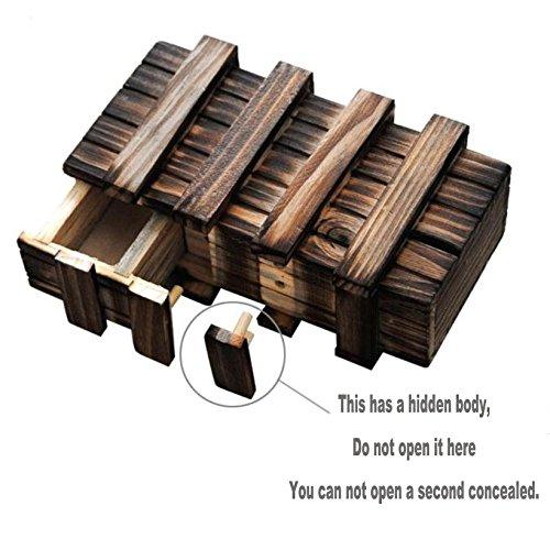 OFKPO Holz Magic Box,Kreative Geschenkbox Denkspiel//Knobelspiel//Geduldspiel