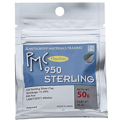 Image of Clay PMC One Fire Sterling Clay - 50 Grams