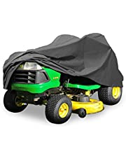 "Deluxe Riding Lawn Mower Tractor Cover Fits Decks up to 54"" - Dark Grey - Water, Mildew, and UV Resistant Storage Cover"